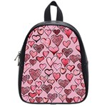 Artistic Valentine Hearts School Bags (Small)  Front