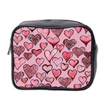 Artistic Valentine Hearts Mini Toiletries Bag 2-Side Front