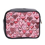 Artistic Valentine Hearts Mini Toiletries Bag 2-Side Back