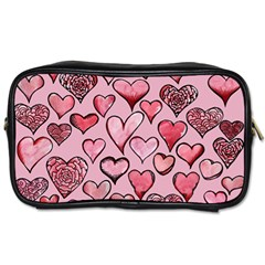 Artistic Valentine Hearts Toiletries Bags 2 Side