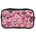Artistic Valentine Hearts Toiletries Bags 2-Side Front