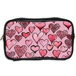 Artistic Valentine Hearts Toiletries Bags 2-Side Back