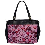 Artistic Valentine Hearts Office Handbags Front