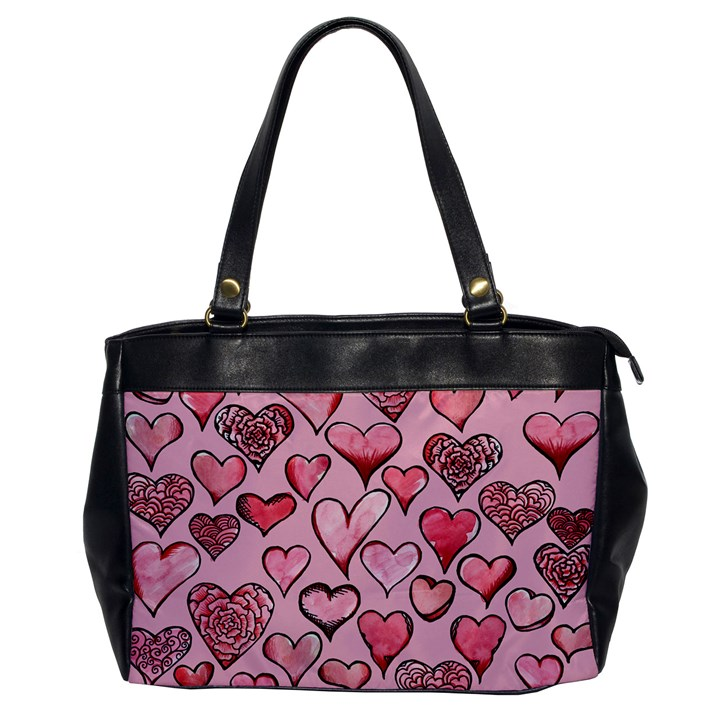 Artistic Valentine Hearts Office Handbags
