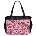 Artistic Valentine Hearts Office Handbags (2 Sides)  Front