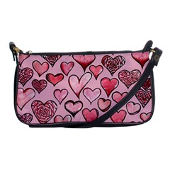 Artistic Valentine Hearts Shoulder Clutch Bags