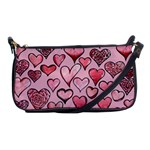 Artistic Valentine Hearts Shoulder Clutch Bags Front