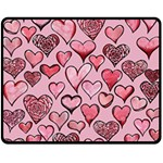 Artistic Valentine Hearts Fleece Blanket (Medium)  60 x50 Blanket Front