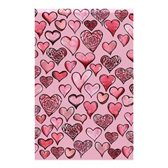 Artistic Valentine Hearts Shower Curtain 48  x 72  (Small)