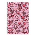 Artistic Valentine Hearts Shower Curtain 48  x 72  (Small)  42.18 x64.8 Curtain