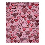 Artistic Valentine Hearts Shower Curtain 60  x 72  (Medium)  54.25 x65.71 Curtain