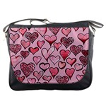 Artistic Valentine Hearts Messenger Bags Front