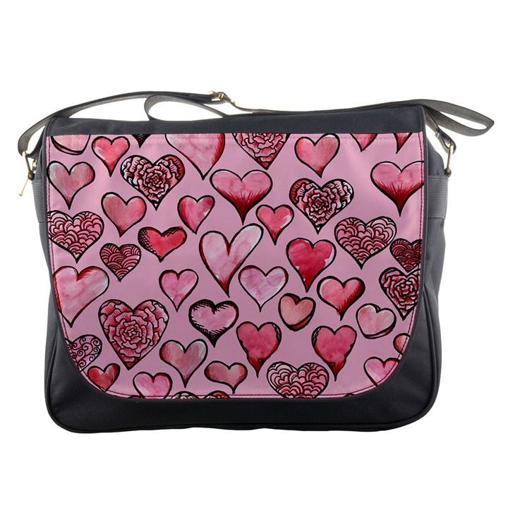 Artistic Valentine Hearts Messenger Bags