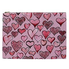 Artistic Valentine Hearts Cosmetic Bag (XXL)