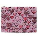 Artistic Valentine Hearts Cosmetic Bag (XXL)  Front