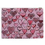 Artistic Valentine Hearts Cosmetic Bag (XXL)  Back