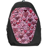 Artistic Valentine Hearts Backpack Bag Front