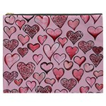 Artistic Valentine Hearts Cosmetic Bag (XXXL)  Front