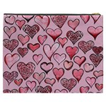 Artistic Valentine Hearts Cosmetic Bag (XXXL)  Back