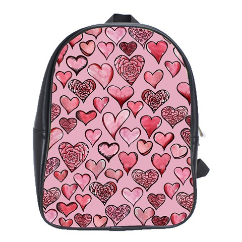 Artistic Valentine Hearts School Bags (XL)