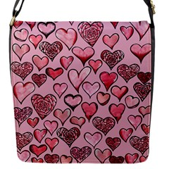 Artistic Valentine Hearts Flap Messenger Bag (S)