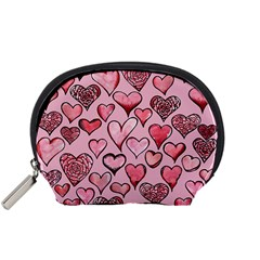 Artistic Valentine Hearts Accessory Pouches (Small)
