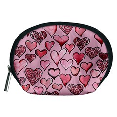 Artistic Valentine Hearts Accessory Pouches (Medium)