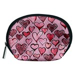 Artistic Valentine Hearts Accessory Pouches (Medium)  Front