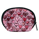 Artistic Valentine Hearts Accessory Pouches (Medium)  Back