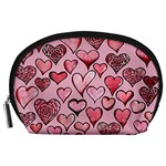 Artistic Valentine Hearts Accessory Pouches (Large)  Front