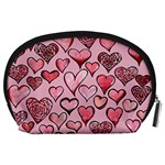 Artistic Valentine Hearts Accessory Pouches (Large)  Back