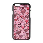 Artistic Valentine Hearts Apple iPhone 6/6S Black Enamel Case Front