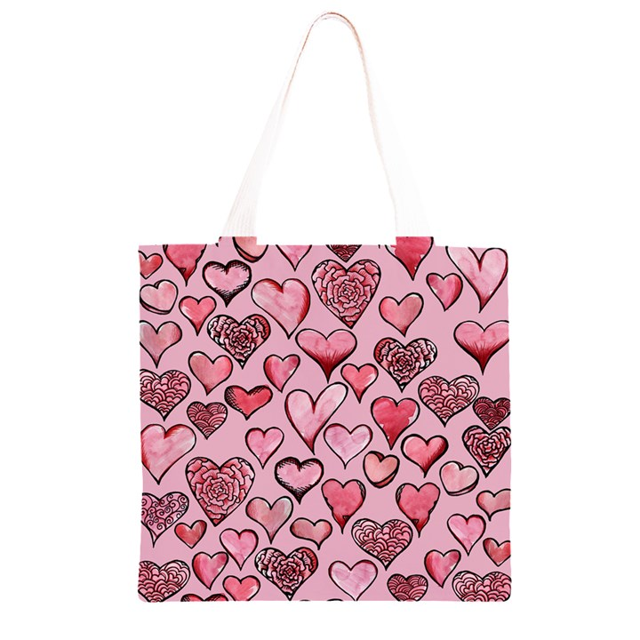Artistic Valentine Hearts Grocery Light Tote Bag