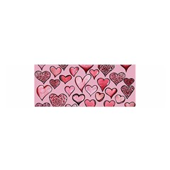 Artistic Valentine Hearts Satin Scarf (Oblong)