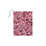 Artistic Valentine Hearts Drawstring Pouches (XS)  Back