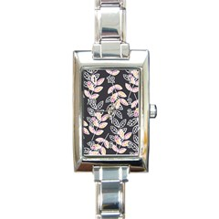 Winter Beautiful Foliage  Rectangle Italian Charm Watch