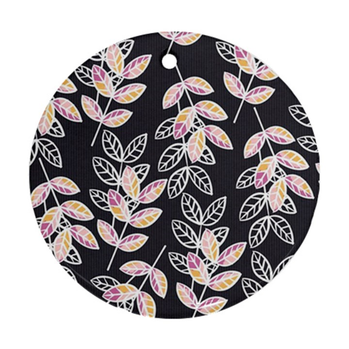 Winter Beautiful Foliage  Ornament (Round)