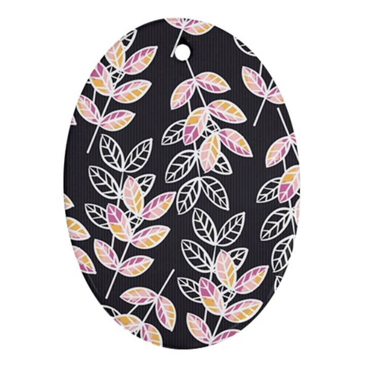 Winter Beautiful Foliage  Ornament (Oval)