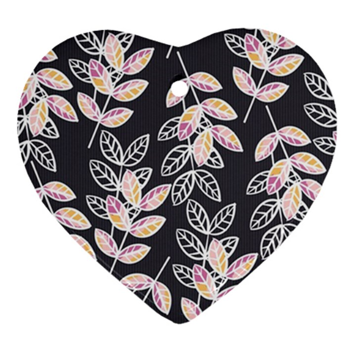 Winter Beautiful Foliage  Ornament (Heart)