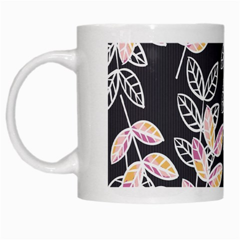 Winter Beautiful Foliage  White Mugs