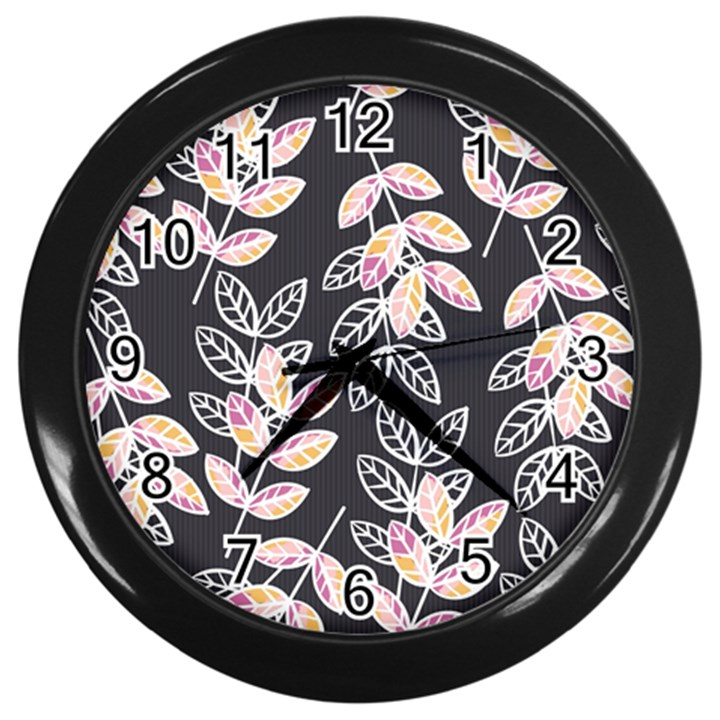Winter Beautiful Foliage  Wall Clocks (Black)