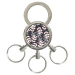 Winter Beautiful Foliage  3-Ring Key Chains Front