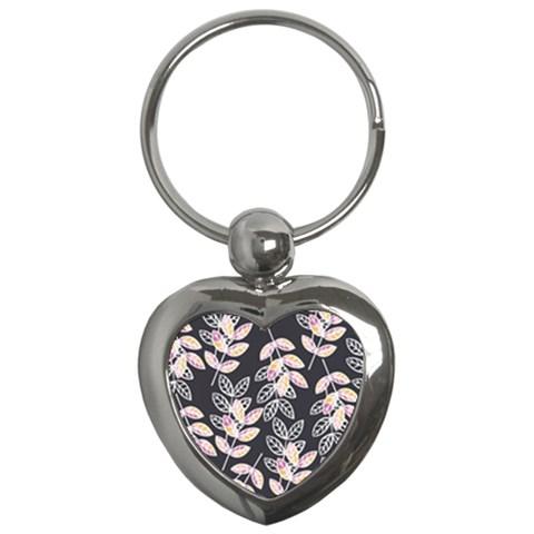Winter Beautiful Foliage  Key Chains (Heart)