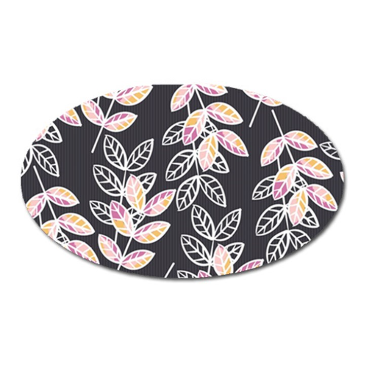 Winter Beautiful Foliage  Oval Magnet