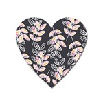Winter Beautiful Foliage  Heart Magnet Front