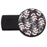 Winter Beautiful Foliage  USB Flash Drive Round (1 GB)  Front