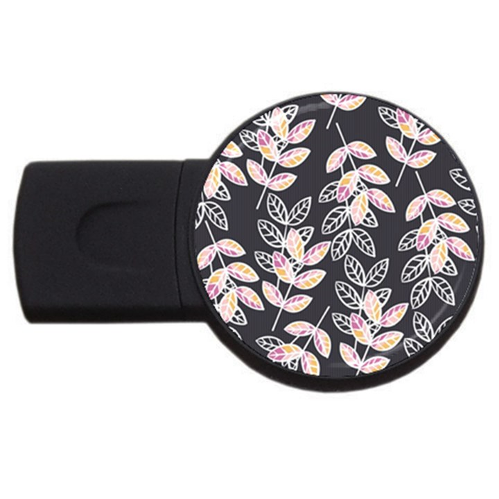 Winter Beautiful Foliage  USB Flash Drive Round (1 GB)
