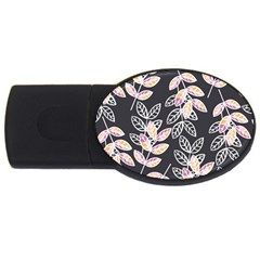 Winter Beautiful Foliage  USB Flash Drive Oval (2 GB)