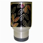 Winter Beautiful Foliage  Travel Mug (Silver Gray) Center