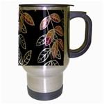 Winter Beautiful Foliage  Travel Mug (Silver Gray) Right